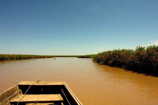 Barque sur une rivière