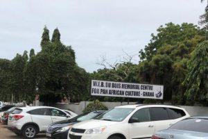 Pancarte à l'entrée du W.E.B Du Bois Centre for Panafrican Culture